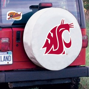 Washington State University Logo Tire Cover - White