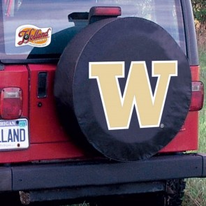 University of Washington Logo Tire Cover - Black
