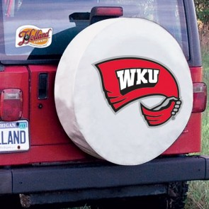 Western Kentucky University Logo Tire Cover - White