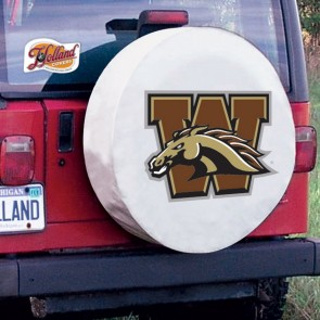 Western Michigan University Logo Tire Cover - White