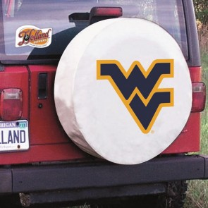 West Virginia University Logo Tire Cover - White