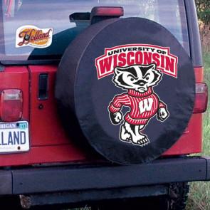 University of Wisconsin - Bucky Logo Tire Cover - Black