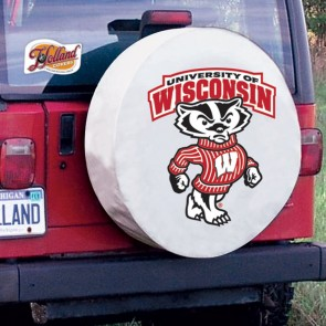 University of Wisconsin - Bucky Logo Tire Cover - White
