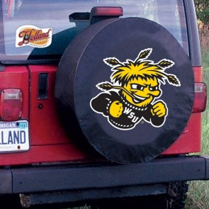 Wichita State University Logo Tire Cover - Black