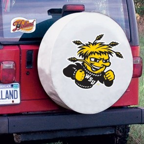 Wichita State University Logo Tire Cover - White