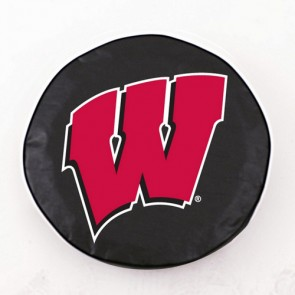 University of Wisconsin - W Block Logo Tire Cover - Black