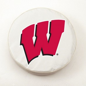 University of Wisconsin - W Block Logo Tire Cover - White