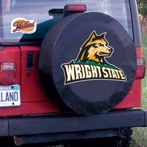 Wright State University Logo Tire Cover -  Black