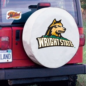 Wright State Tire Cover White