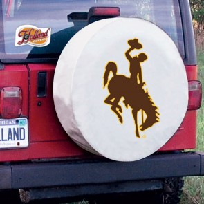 University of Wyoming Logo Tire Cover - White