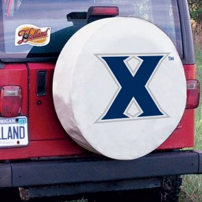 Xavier University Logo Tire Cover - White