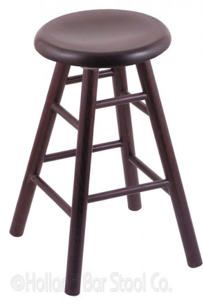 XL Saddle Dish Domestic Hardwood Swivel Stool