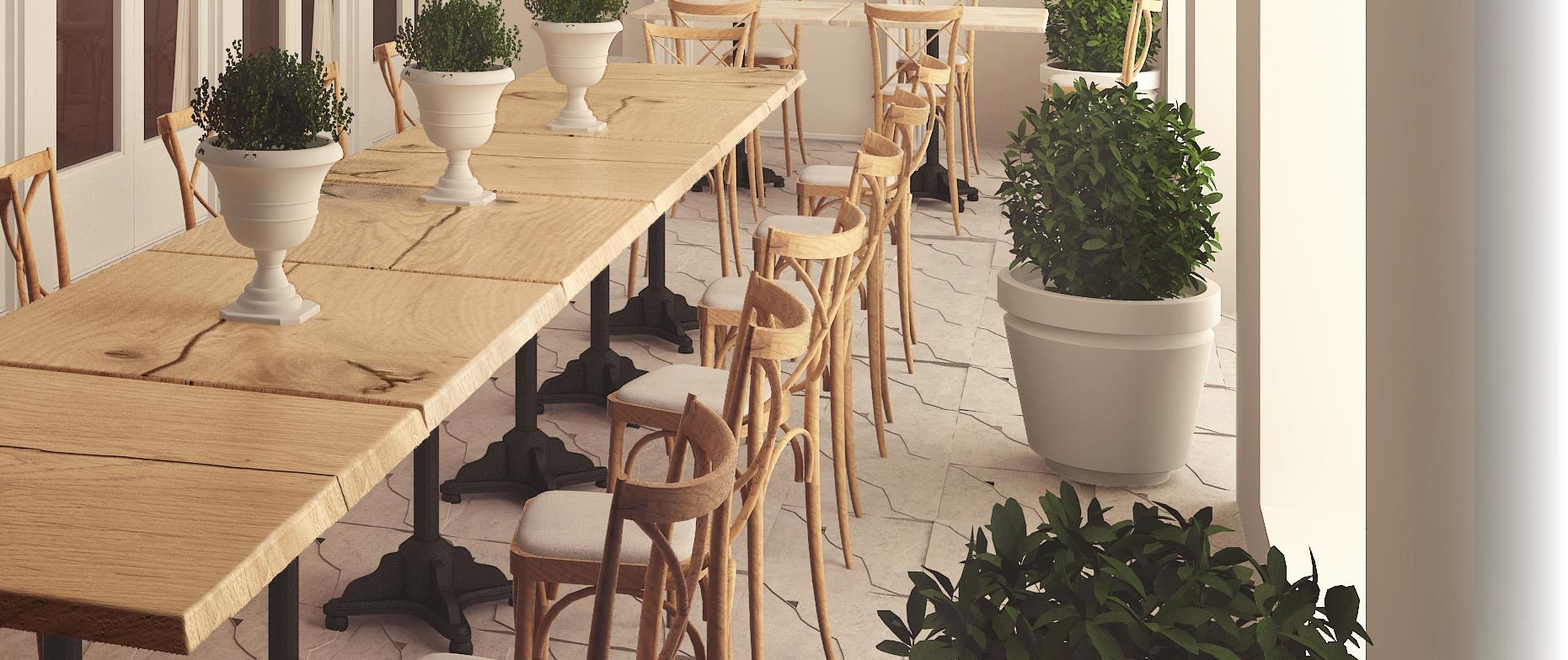 Outdoor Table Tops Commercial Grade Bar Set