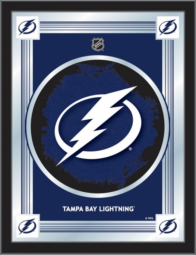 Trademark Gameroom NHL Tampa Bay Lightning Framed Logo Mirror