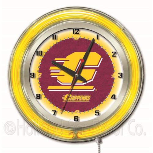 15 Vanderbilt Commodores HBS Neon Yellow College Battery Powered Wall Clock