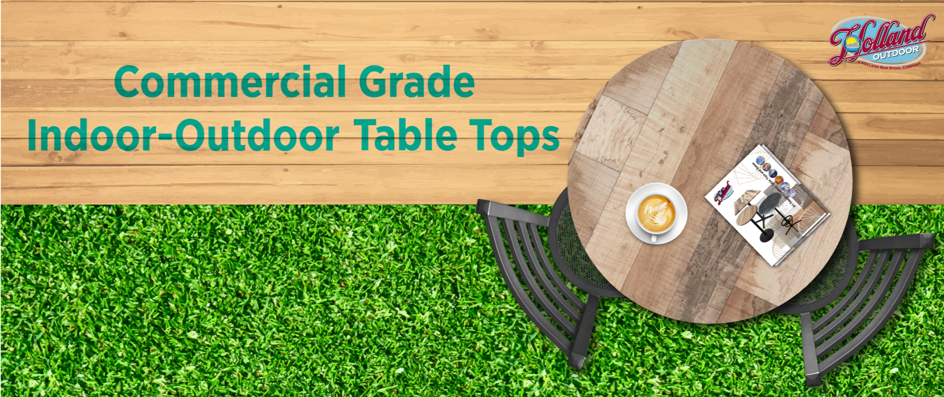 Commercial Indoor-Outdoor Table Tops for Restaurants and the Home